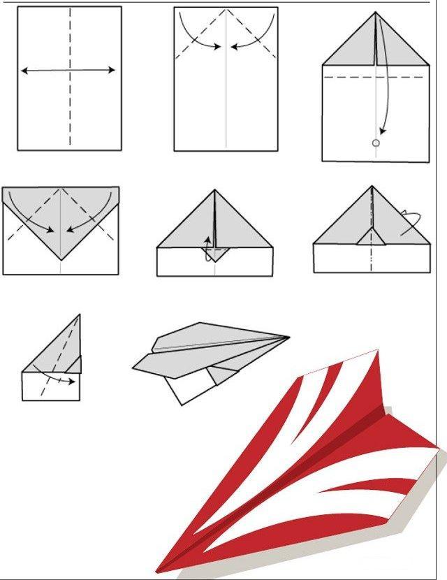 Самолетик с бумаги своими руками