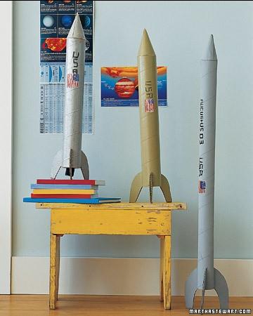 Как сделать ракету в домашних условиях маленькую